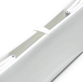Stokke Flexi Bath in white folded closeup view