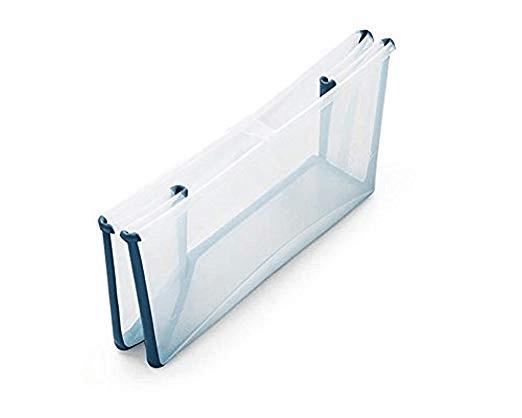 Stokke Flexi Bath in transparent blue folded