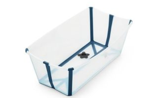 Stokke Flexi Bath in transparent blue open