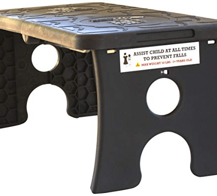 TipPeeToe step stool black open
