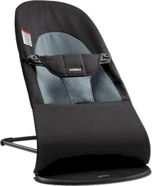 BabyBjorn Bouncer Balance in black and dark gray cotton