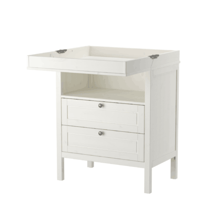 Ikea Sundvik in white with open changing table