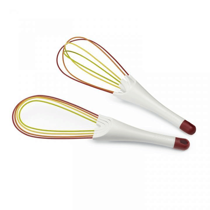 Joseph Joseph Twist Whisk both open and folded in multicolor