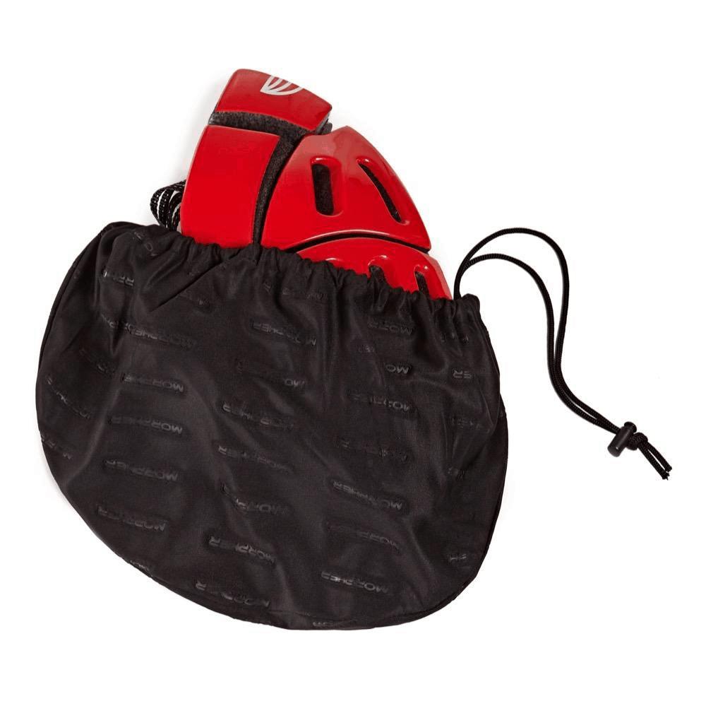 morpher helmet red folded in bag