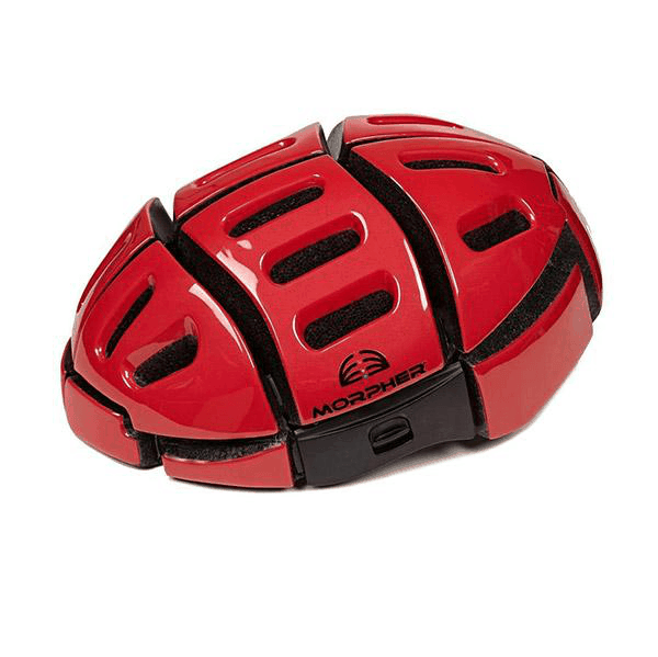 morpher helmet red open