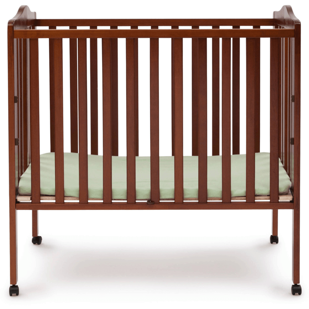 Delta Crib in cherry open front view