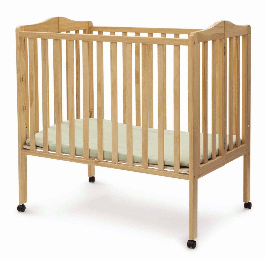 Delta Crib in natural wood open