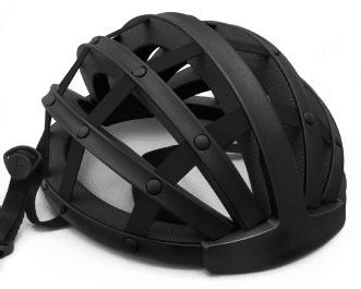 Fend helmet in black open from front view obsolete design