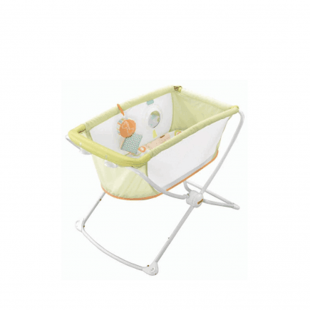 Fisher-Price Rock-n-Play Portable Bassinet in lime green open