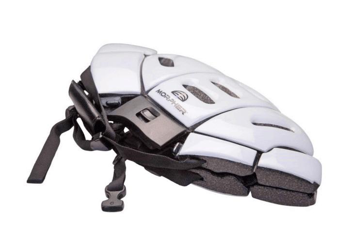 morpher white folded flat resting