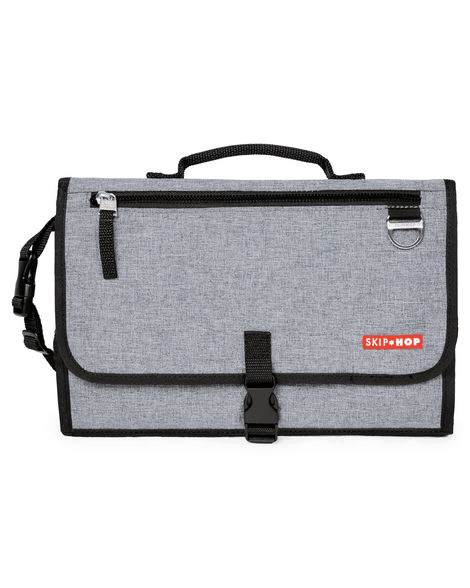 Pronto folded in heather gray solid color with black trim