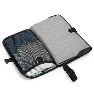 Pronto in Heather Gray half open with diaper in mesh insert