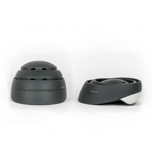 174HUDSON Stack helmet in black both open and folded
