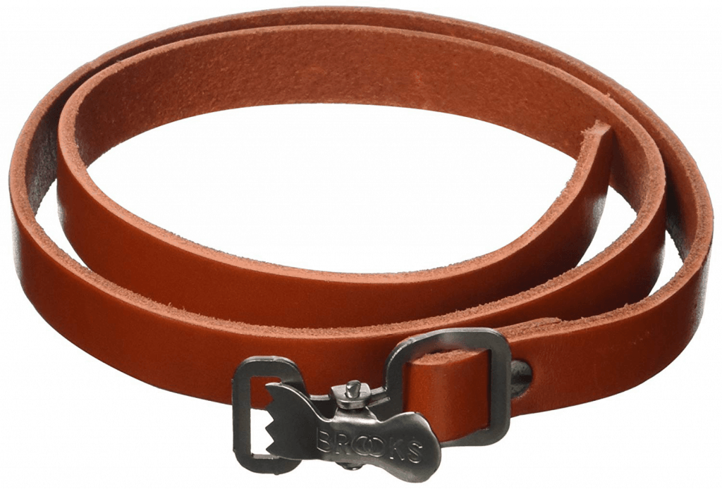 Carrera leather carrying strap
