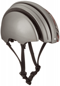 Brooks England Carrera Foldable Helmet in grey open front view