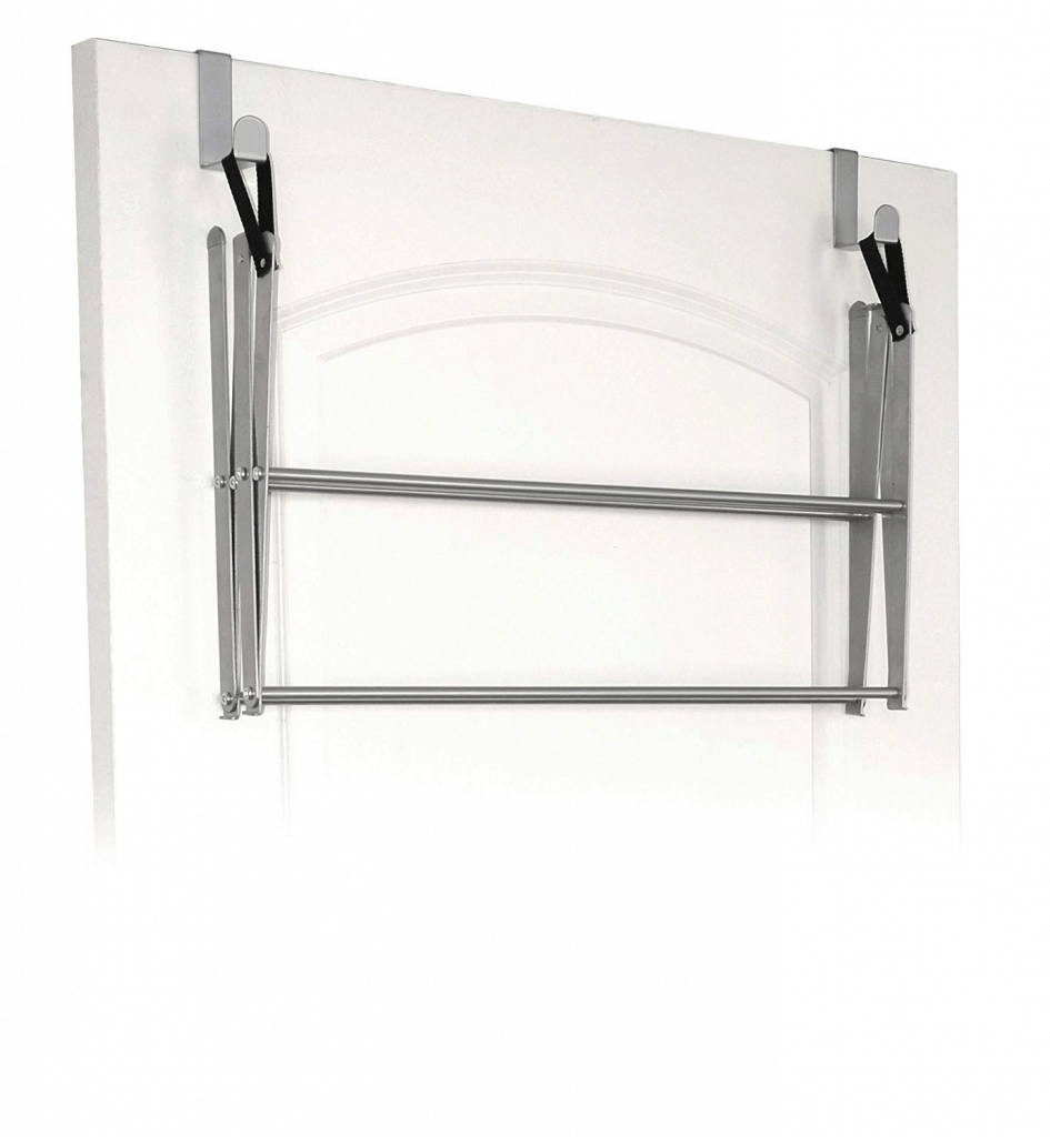 Homz over-the-door towel and garment drying rack folded