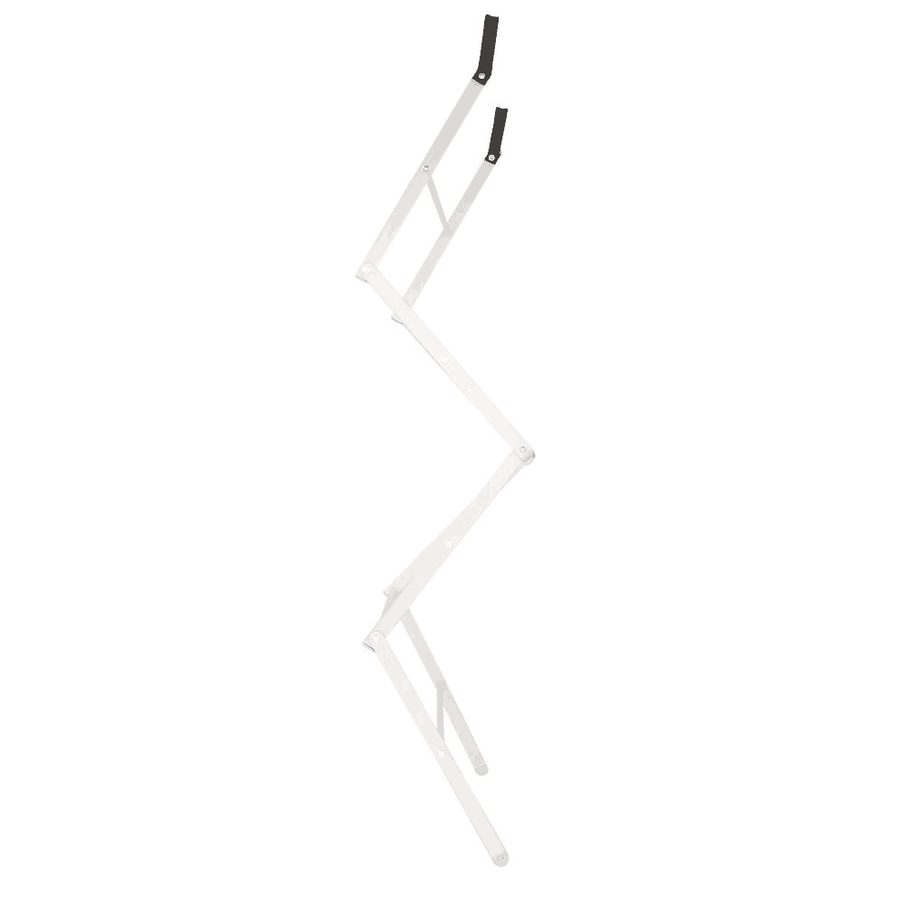 Homz over-the-door towel and garment drying rack open