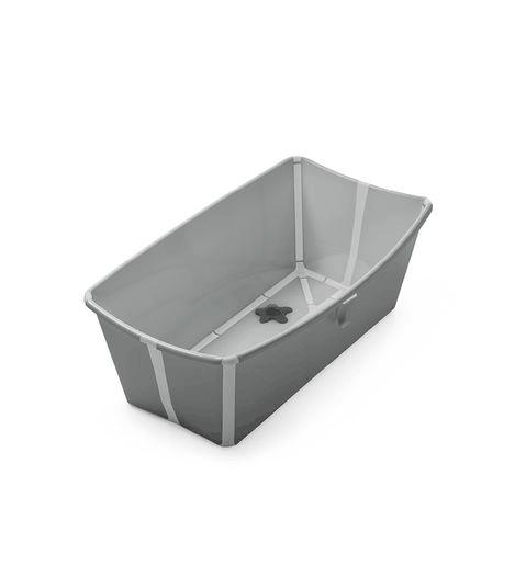 Stokke Flexi Bath baby bathtub open in grey with light grey trim