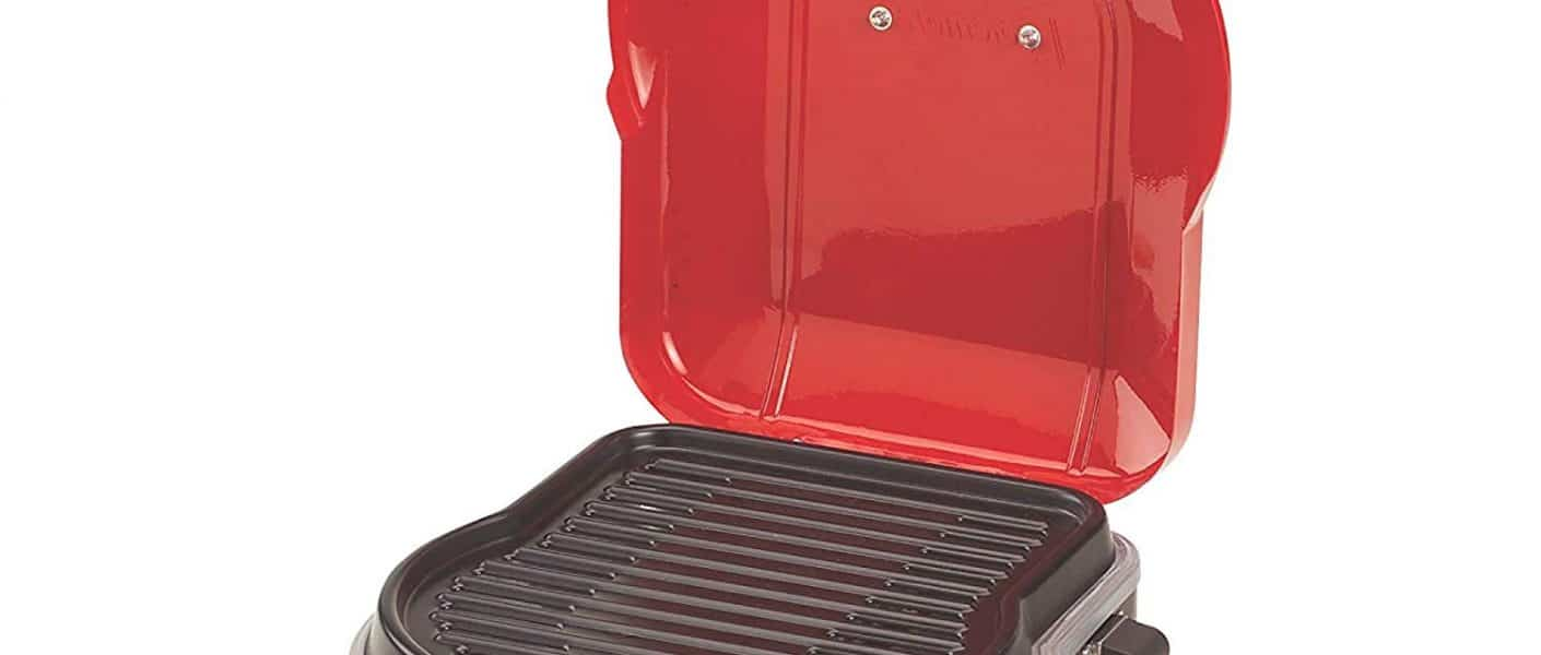 Coleman Fold-N-Go Instastart Grill in red open