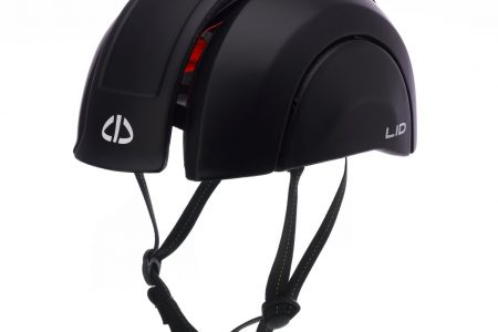 PLICO-Lid in black from front side view