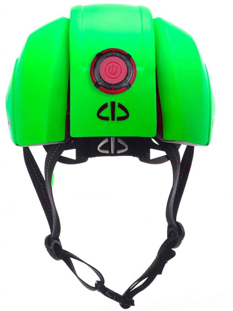LID Plico in green showing LED light on back