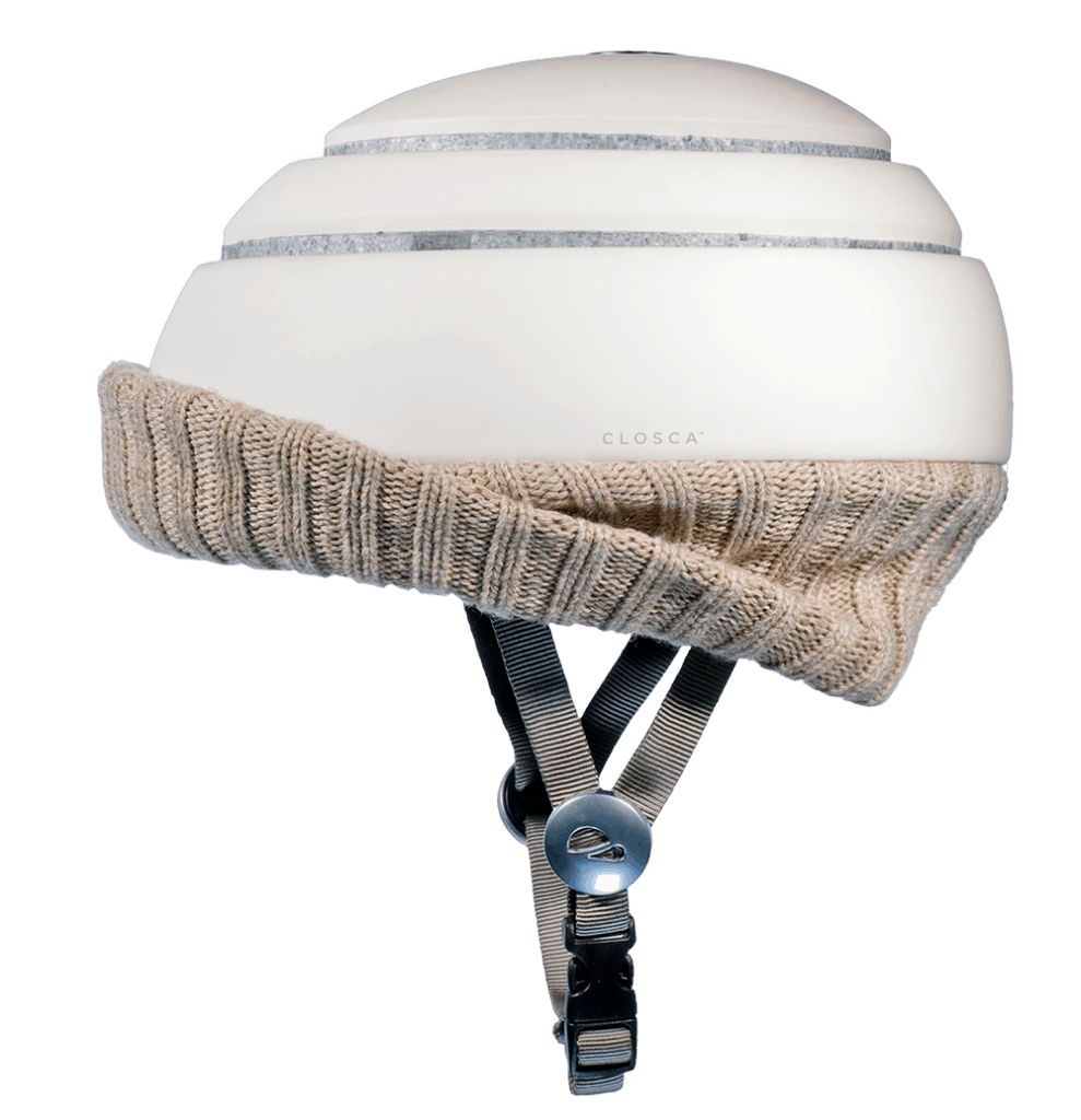 Fuga in white with nordic wheat beige visor