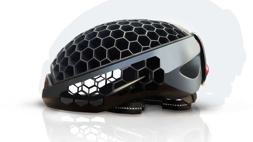 Cyclo folding helmet open side view
