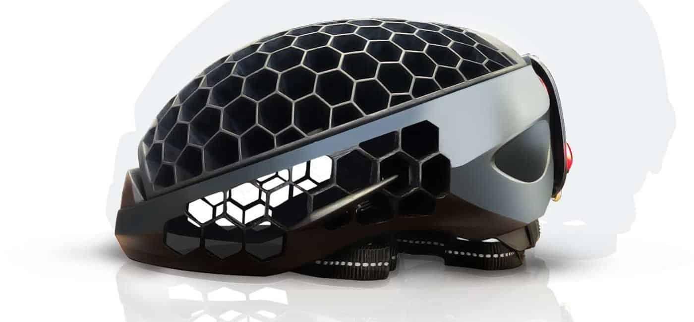 Cyclo folding helmet open side view