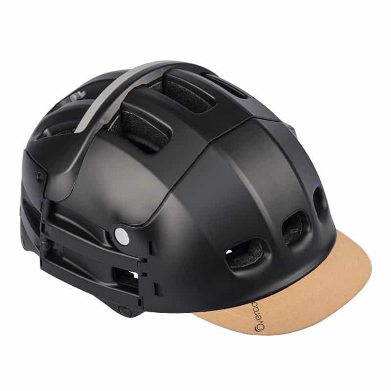 Overade Plixi in black with beige-suede visor
