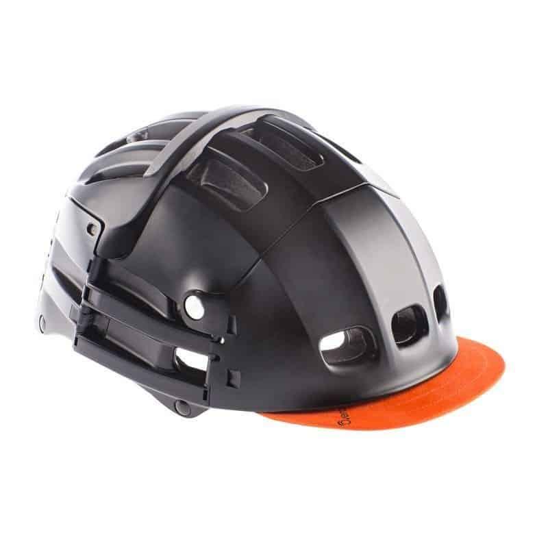 Overade Plixi in black with orange visor