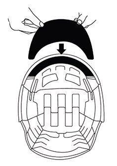 Overade Plixi attaching visor step 3