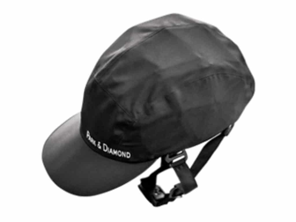 Park-and-Diamond helmet in black top view