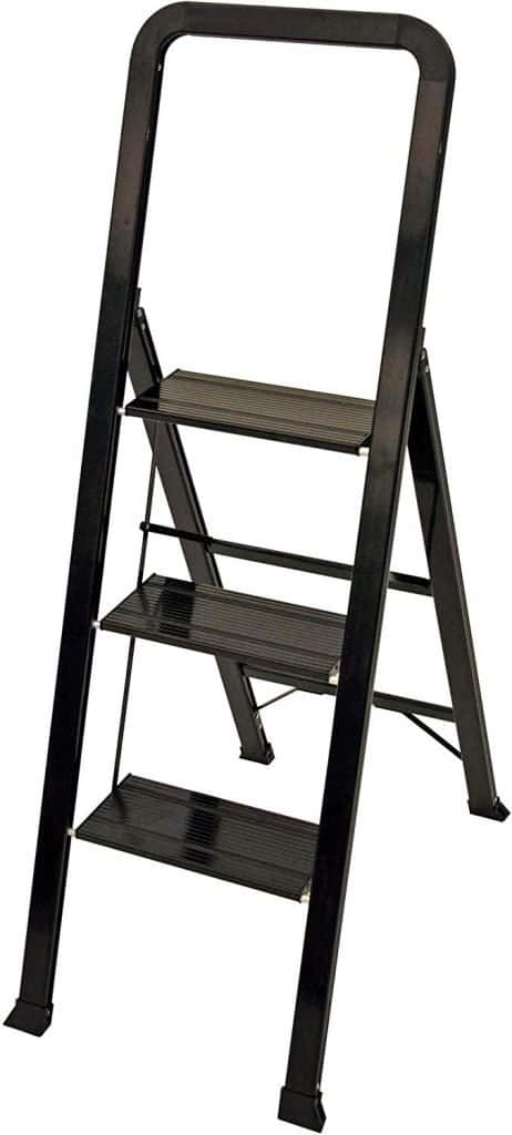 Ascent step stool in black open