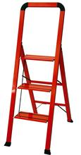 Ascent step stool in red open