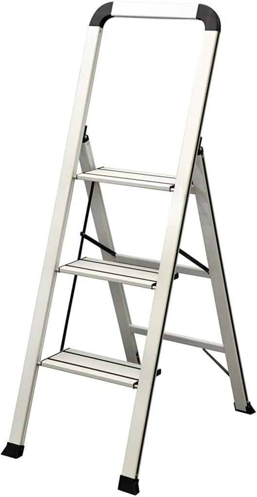Ascent step stool in white open