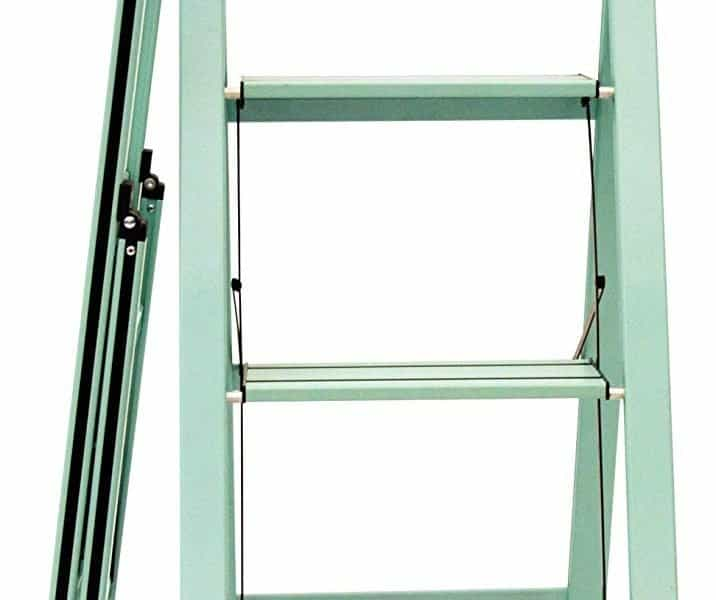 Ascent step stool in teal open and folded