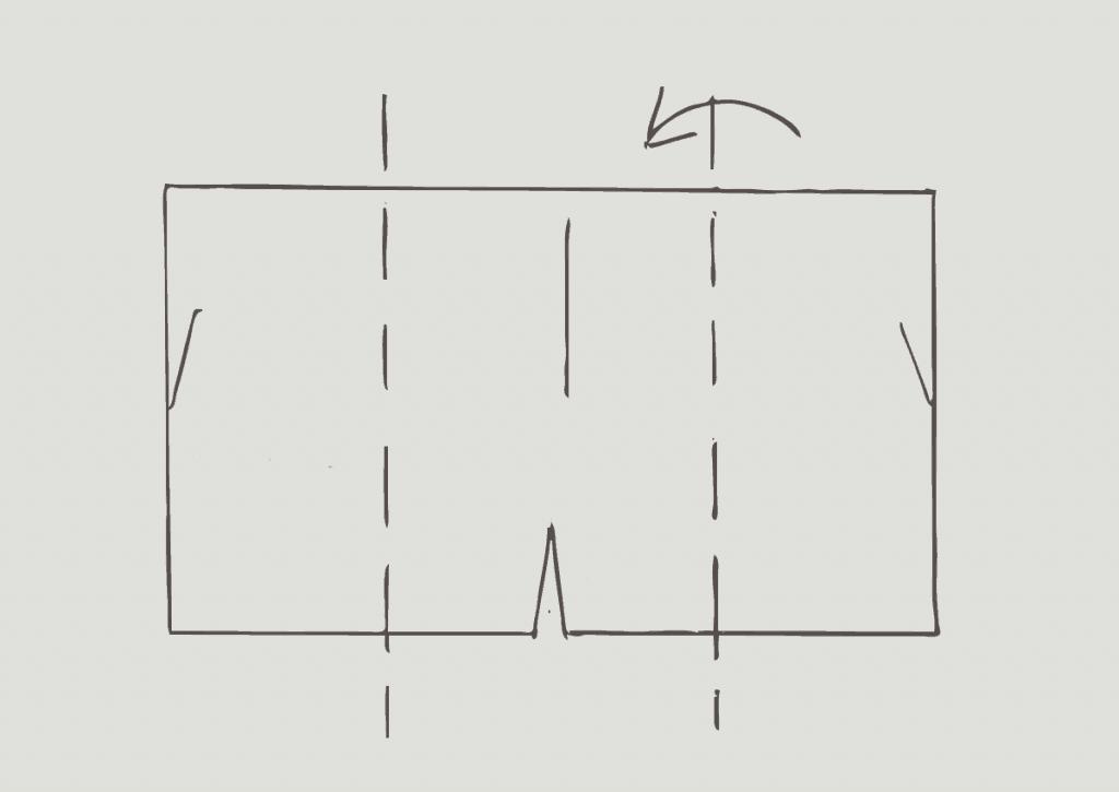 KonMari method of folding heavy shorts, step 1
