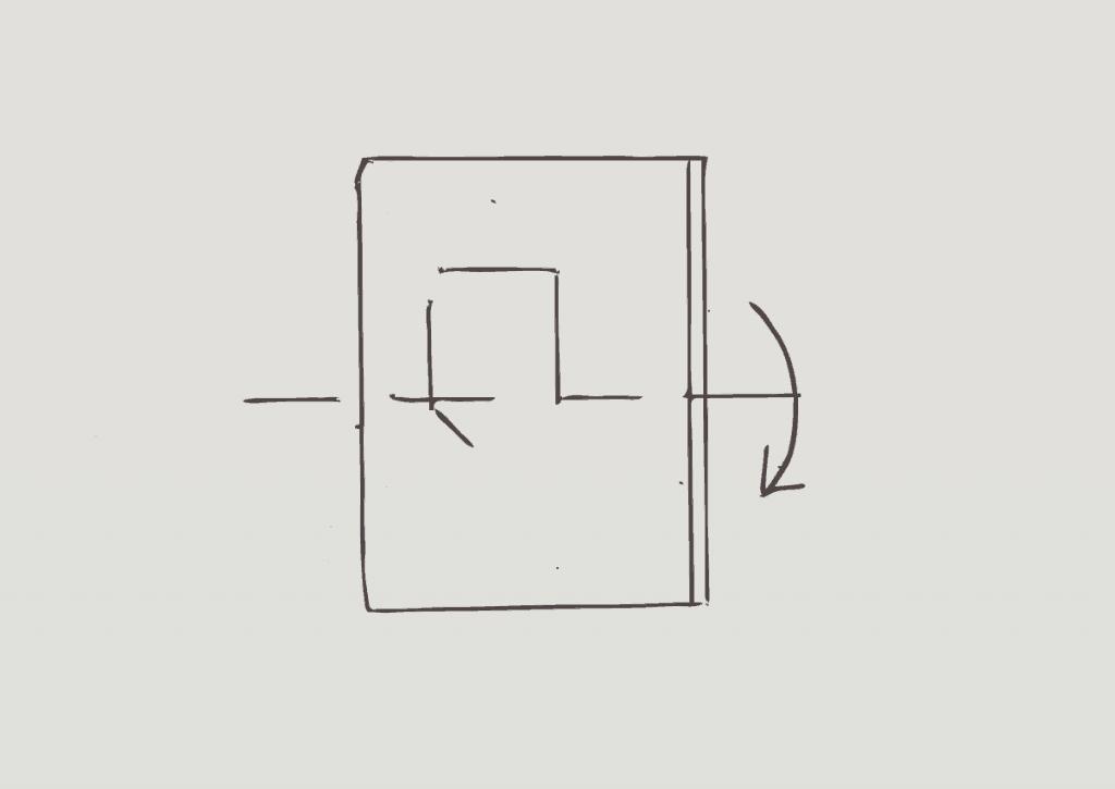 KonMari method of folding heavy shorts, step 3