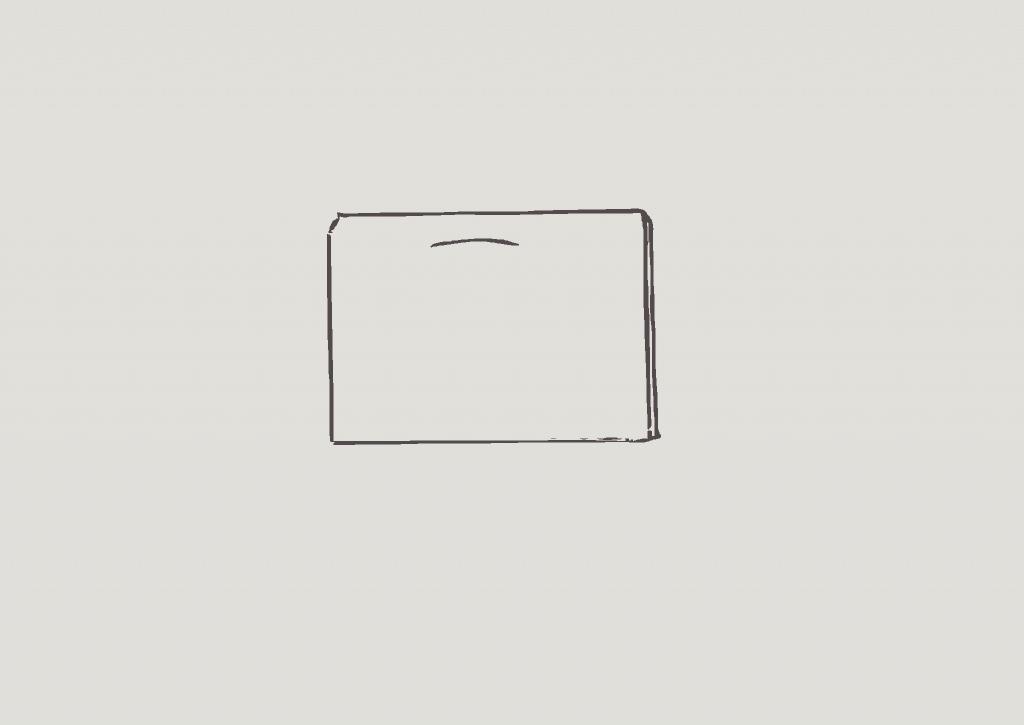 KonMari method of folding heavy shorts, step 4