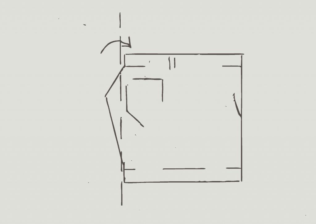 KonMari method of folding light shorts, step 2