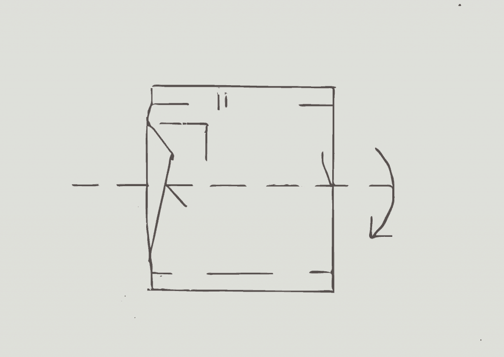 KonMari method of folding light shorts, step 3