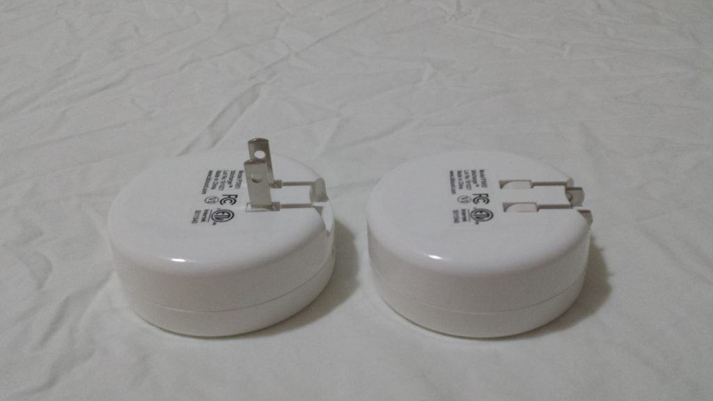 Bibicord chargers open and tucked prongs
