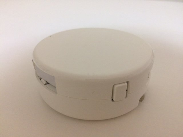 Bibicord showing retract button back top view